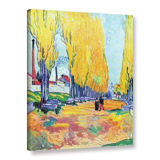 Vincent van Gogh 'Les Alyscamps' Wrapped Canvas Art