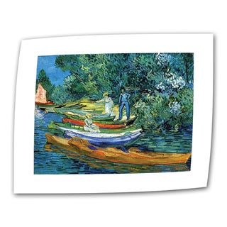Vincent van Gogh 'Bank of The Oise at Auver' Flat Canvas Art