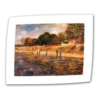 Vincent van Gogh 'Banks of The Seine' Flat Canvas Art