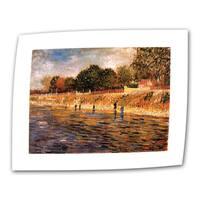 Vincent van Gogh 'Banks of The Seine' Flat Canvas Art - Multi