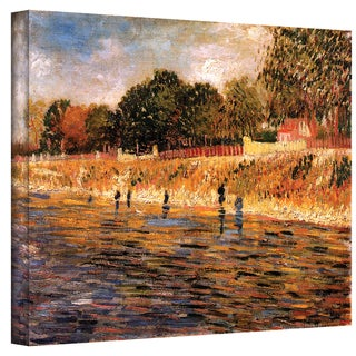 Vincent van Gogh 'Banks of The Seine' Wrapped Canvas Art