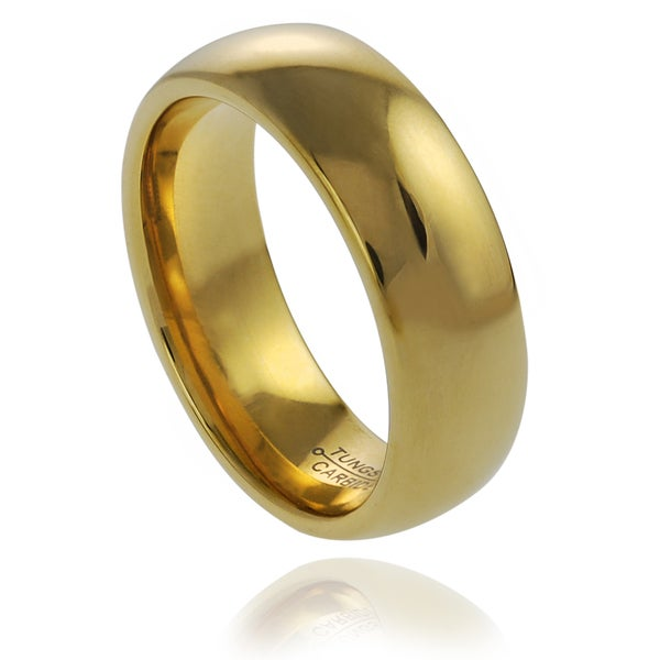 Vance Co. Men's Goldplated Tungsten Band (7 mm)