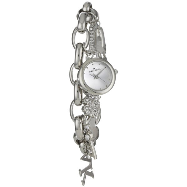 Anne Klein Women's Silver Stainless-Steel Watch with White Dial