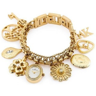 Anne Klein Women's Goldtone Stainless Steel Water-Resistant Watch