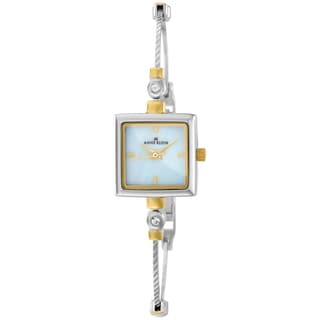 Anne Klein Women's Silver Stainless-Steel Quartz Watch with Mother-Of-Pearl Dial