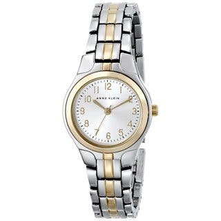 Anne Klein Women's Silver Stainless-Steel Watch with Silver Dial|https://ak1.ostkcdn.com/images/products/7564396/P14995019.jpg?impolicy=medium