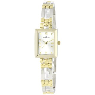 Anne Klein Women's Silver Stainless-Steel Watch with Gold Hands