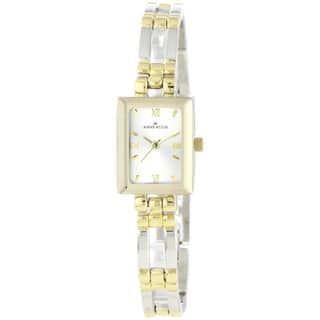 Anne Klein Women's Silver Stainless-Steel Watch with Gold Hands|https://ak1.ostkcdn.com/images/products/7564402/7564402/Anne-Klein-Womens-Silver-Stainless-Steel-Watch-P14995024.jpeg?impolicy=medium