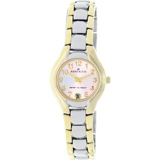 Anne Klein Women's Silver Stainless-Steel Watch with Arabic Numerals