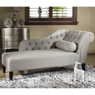Abbyson \'Audrey\' Ivory Velvet Tufted Chaise - Free Shipping Today ...