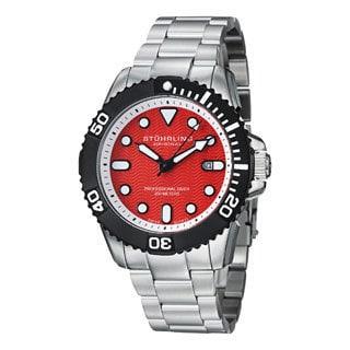 Stuhrling Original Men's Atlantis Elite Professional Diver Stainless Steel Bracelet Watch