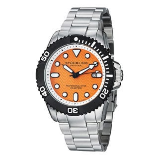 Stuhrling Original Men's Atlantis Elite Professional Diver Stainless Steel Bracelet Outdoor Watch