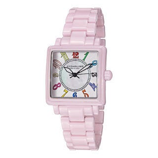 Stuhrling Original Women's Lumina Quartz Ceramic Bracelet Watch