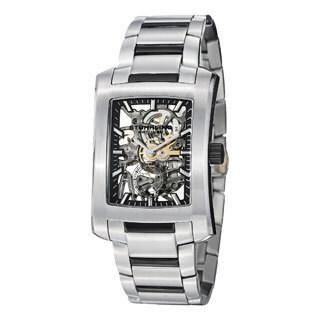 Stuhrling Original Midtown Banker Elite Mechanical Stainless Steel Link Bracelet Watch