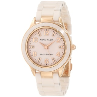 Shop Anne Klein Women S Ceramic Watch Pink Free