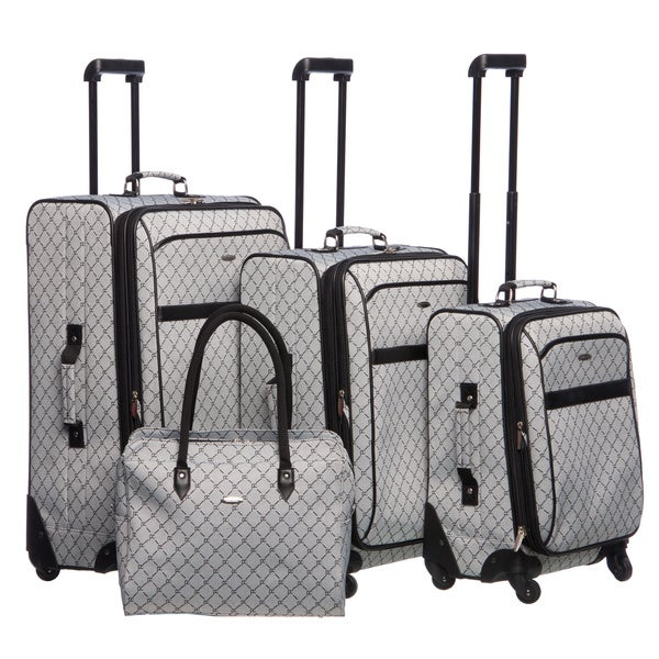 Pierre Cardin Signature 4 Piece Spinner Luggage Set - Free ...