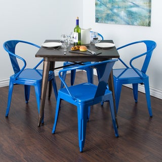 Baja Blue Tabouret Stacking Chairs (Set of 4)