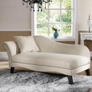 Superior Baxton Studio U0027Phoebeu0027 Beige Linen Modern Chaise Lounge
