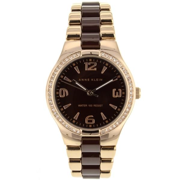 Gold-tone Anne Klein Women's Ceramic Watch