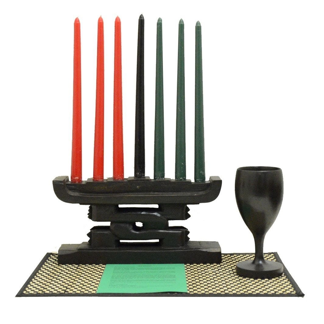 African Heritage Collection Hand-crafted Unity Kwanzaa Se...