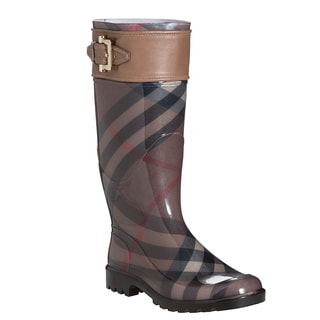 Burberry Women's Sterling Smoked Check Rain Boots