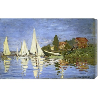 Global Gallery, Claude Monet 'Regatta at Argenteuil' Stretched Canvas
