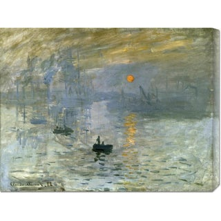 Global Gallery Claude Monet 'Impression: Sunrise' Stretched Canvas