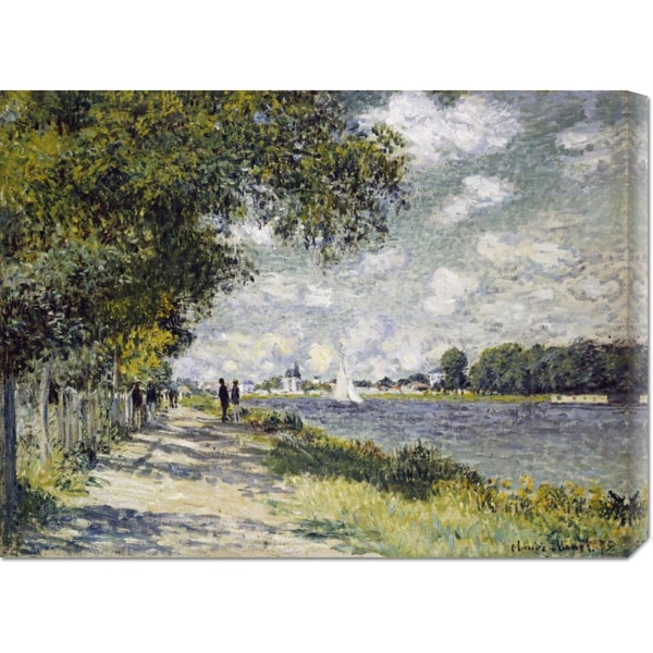 Global Gallery Claude Monet 'The Seine at Argenteuil' Stretched Canvas Art