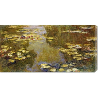 Global Gallery Claude Monet 'The Lily Pond' Stretched Canvas