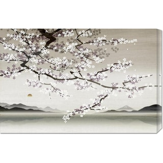 Global Gallery Nick Purser 'Flower blossom in Asian landscape' Stretched Canvas