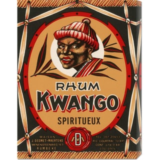 Global Gallery Retrolabel 'Rhum Kwango' Stretched Canvas