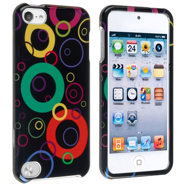 INSTEN Black Rainbow Bubble Snap-on iPod Case Cover for Apple iPod 5th Generation