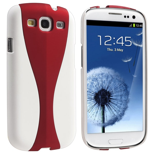BasAcc White/ Red Cup Shape Rear Case for Samsung Galaxy S III/ S3