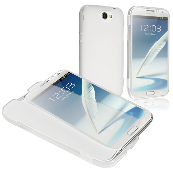 BasAcc Clear White Book TPU Case for Samsung Galaxy Note II N7100