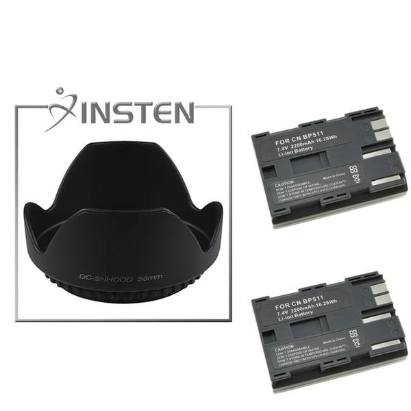 INSTEN Lens Hood/ Battery for Canon EOS 40D/ 50D/ BP-511