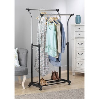 Whitmor 6021-368 Double Adjustable Garment Rack