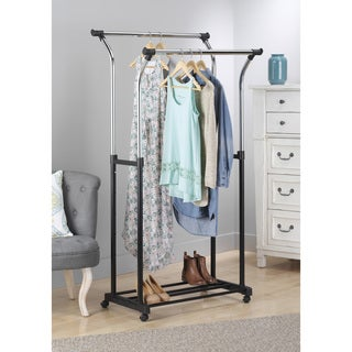 Whitmor 6021-368 Double Adjustable Garment Rack