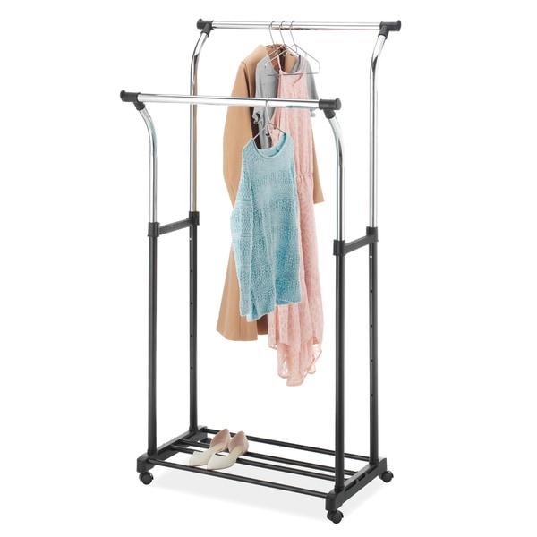 Whitmor 6021 368 Double Adjustable Garment Rack   Free Shipping On Orders  Over $45   Overstock.com   14995484