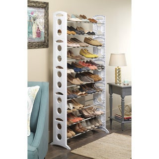 Whitmor 50 Pair Floor Shoe Tower