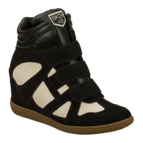 Women's Skechers SKCH Plus 3 Raise Your Glass Black/Natural