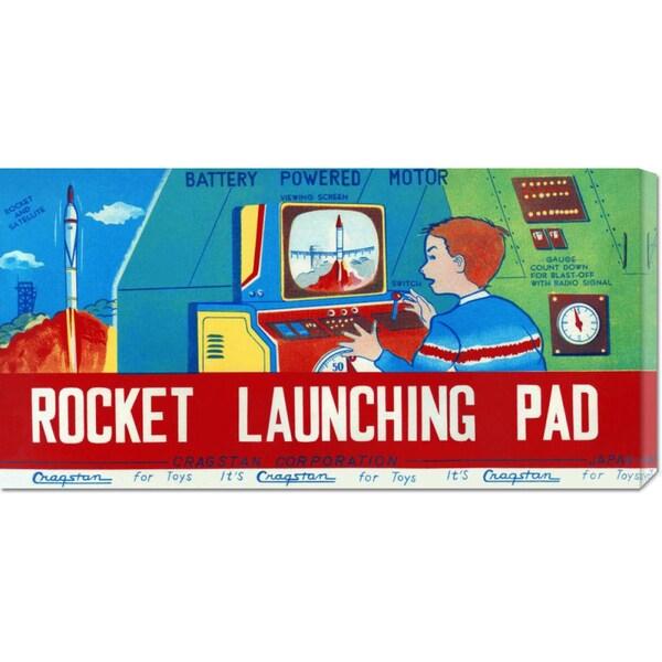 Big Canvas Co. Retrorocket 'Rocket Launching Pad' Stretched Canvas