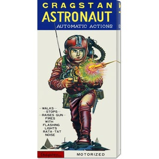 Global Gallery Retrobot 'Cragstan Astronaut Automatic Actions' Stretched Canvas