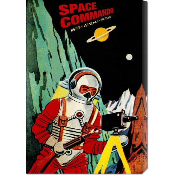 Global Gallery Retrobot 'Space Commando' Stretched Canvas