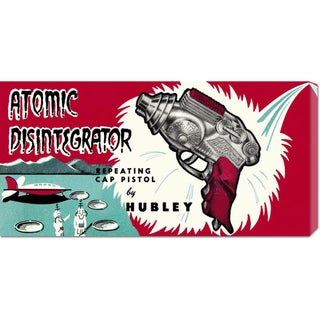 Global Gallery Retrogun 'Atomic Disintegrator' Stretched Canvas