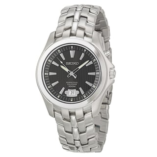 Seiko Men's SNQ101 'Perpetual Calendar' Stainless Steel Watch