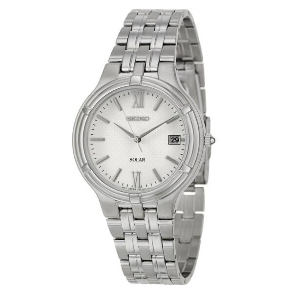 Seiko Men's 'Solar' Stainless Steel Watch