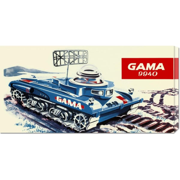 Global Gallery Retrotrans 'Gama 9940 Space Tank' Stretched Canvas Art