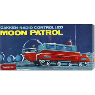 Global Gallery Retrotrans 'Moon Patrol' Stretched Canvas Art