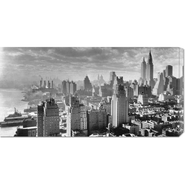 Big Canvas Co. Samuel Gottscho 'East River Waterfront and Manhattan, 1931' Stretched Canvas Art