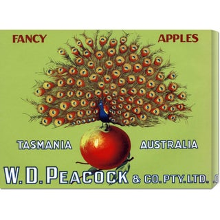 Global Gallery Retrolabel 'W.D. Peacock Fancy Apples' Stretched Canvas Art